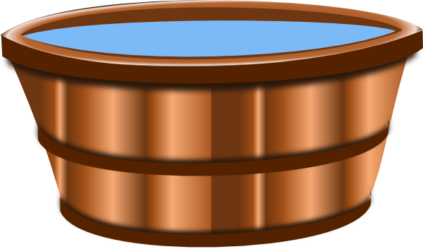Wooden bucket png. Clip art at clker