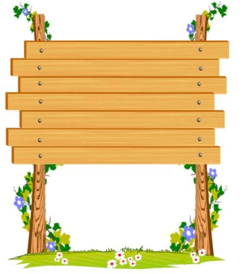 Wooden clipart sign board. Signboard borders frames and