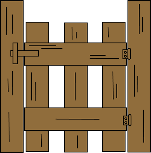Wooden clipart wood gate.