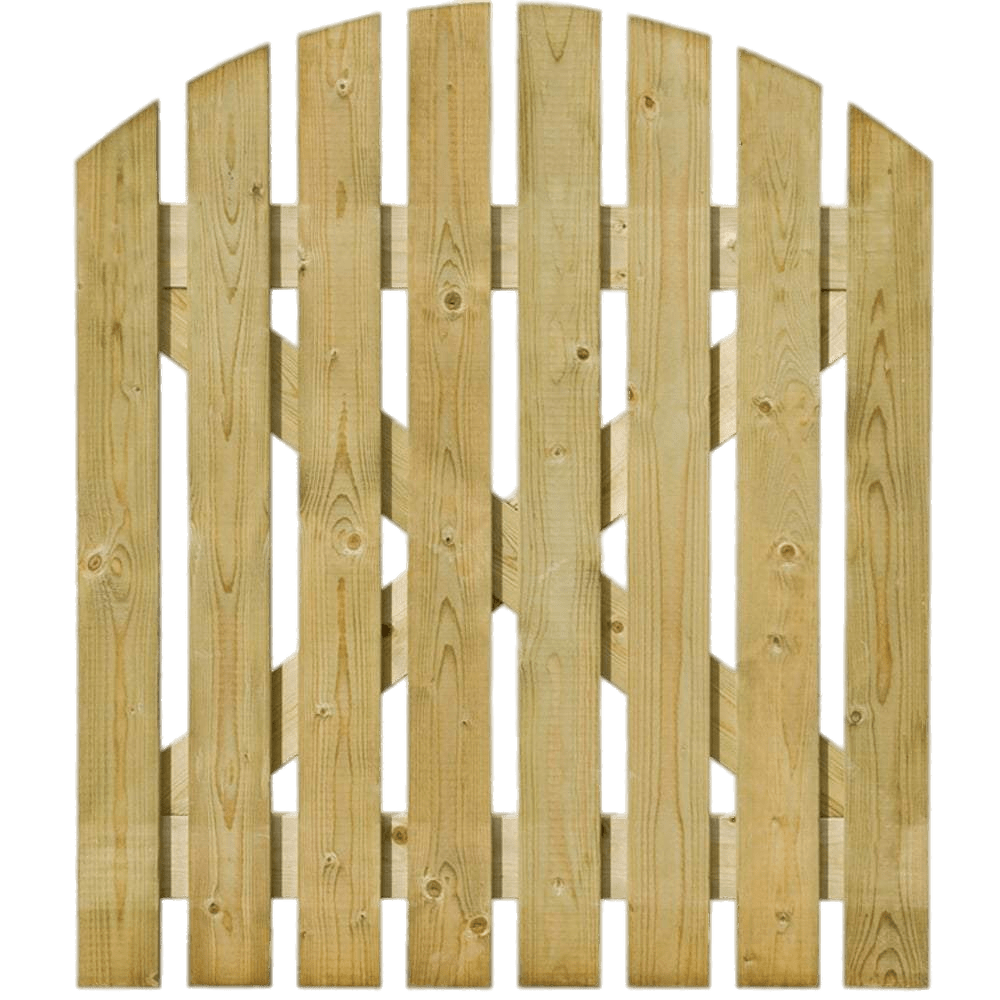Light wood png. Round top wooden gate