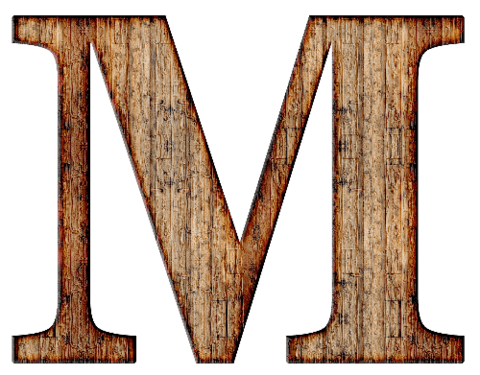 Wooden letters alphabet png. Wood letter m free
