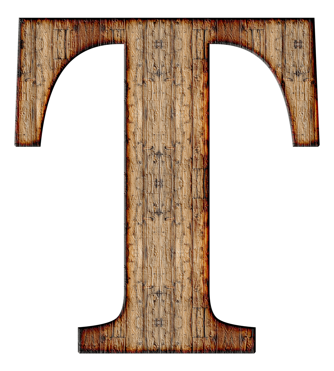 Wooden capital letter png. T transparent image freeuse stock