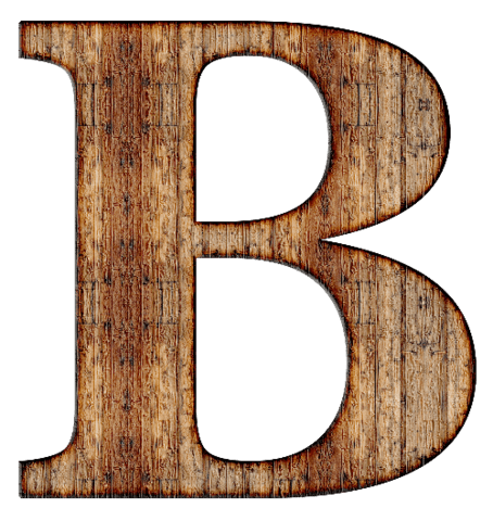 Wooden letters png. Wood letter b free