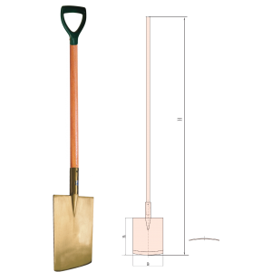 Wooden spade png. Edging with handle denny