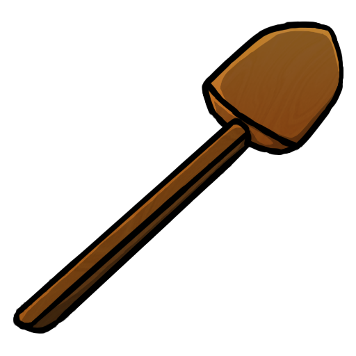 Wooden spade png. Minecraft icons by chrisl