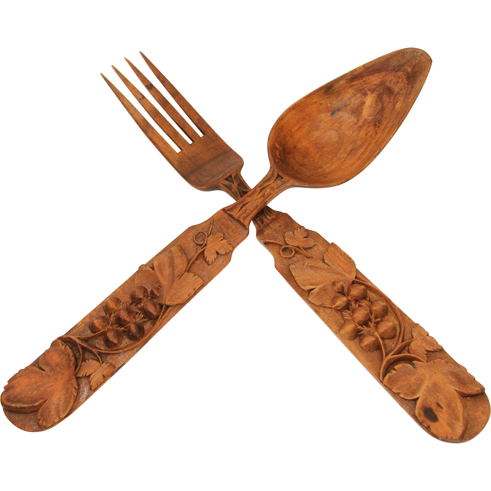 Wooden spoon png. Th century set