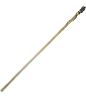 Twig drawing wooden staff