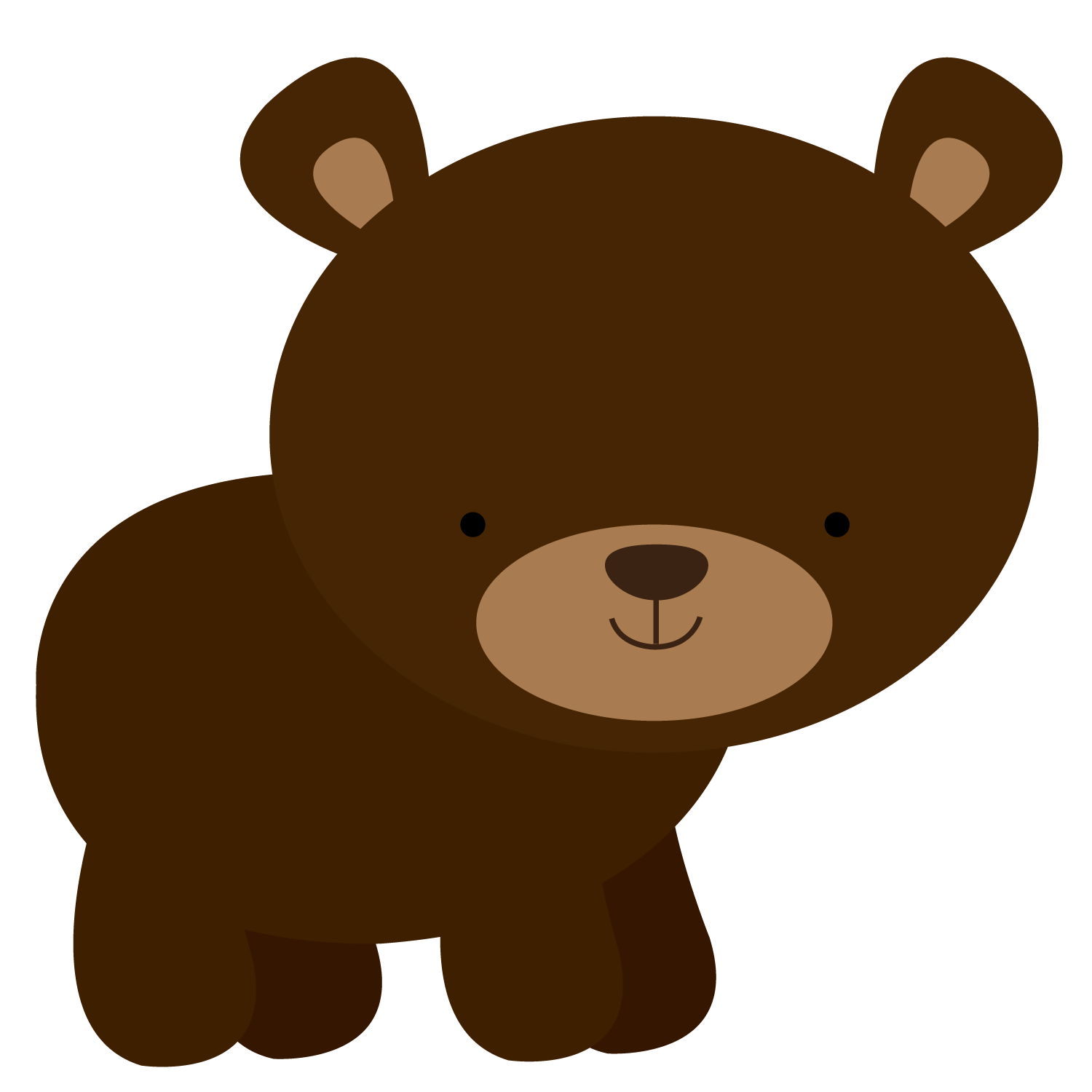 Bear png clipart. Floresta e safari minus