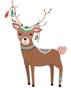 Woodland clipart tribal. Animals forest animal clip