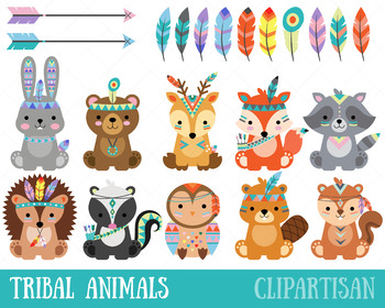 Woodland clipart tribal. Animal clip art forest
