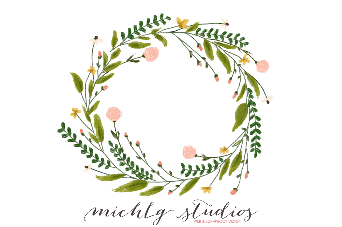 Woodland clipart wreath. Png by michlg studios