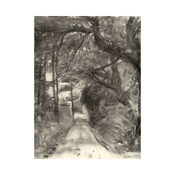 Drawing road charcoal