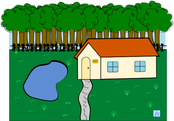 Cabin in clip art. Woods clipart picture library