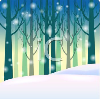 Snow falling in the. Woods clipart snowy banner freeuse download