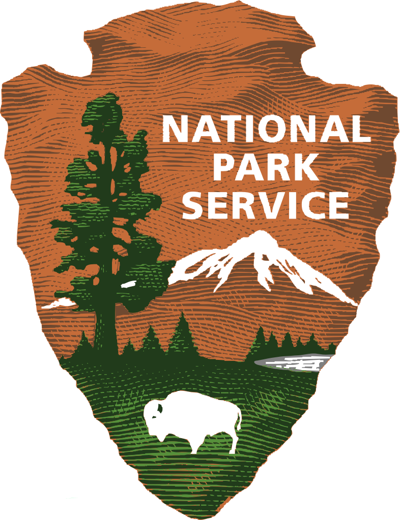 Woods clipart state park. File us nationalparkservice shadedlogo