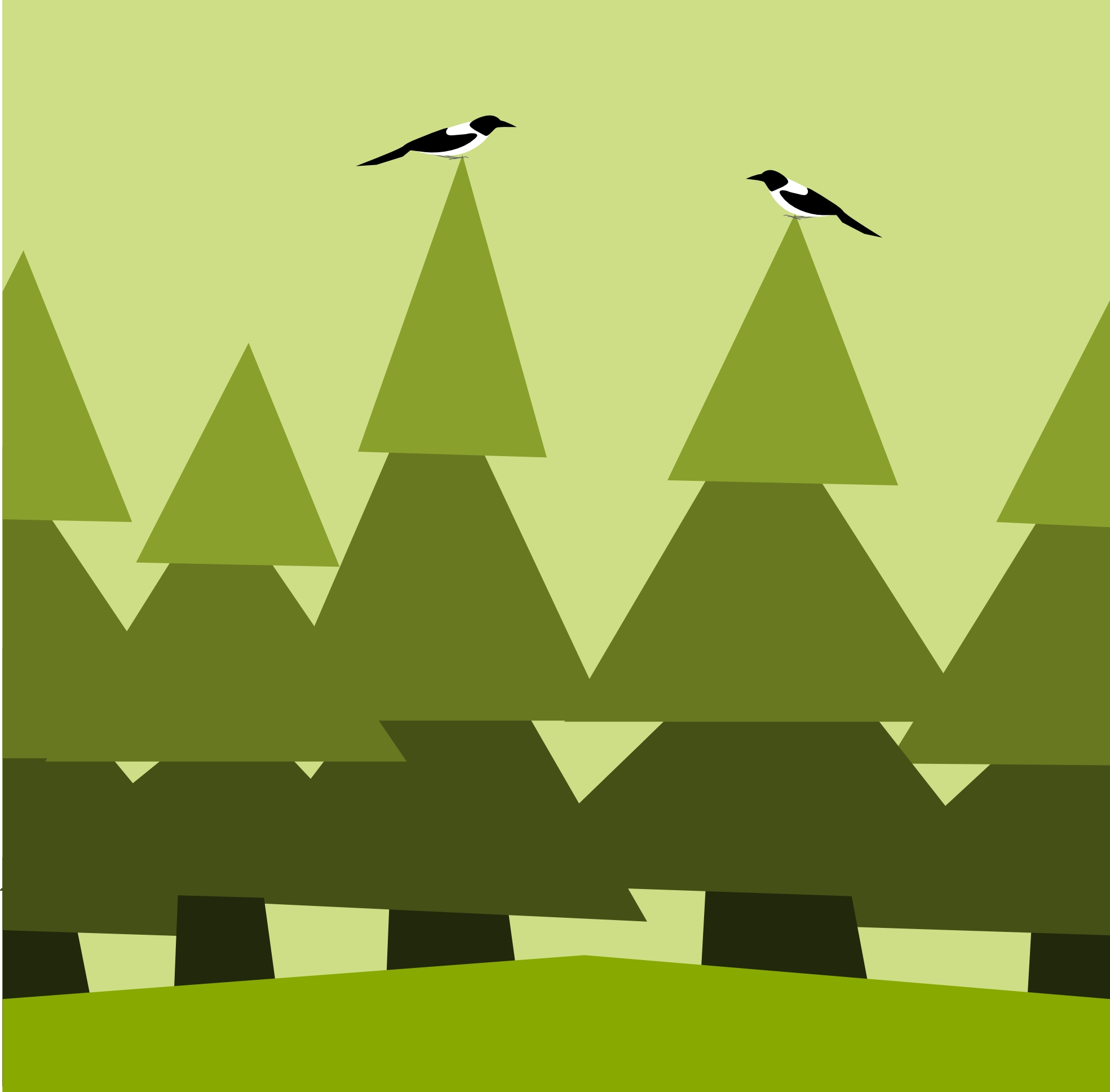 Woods clipart. Best of collection digital