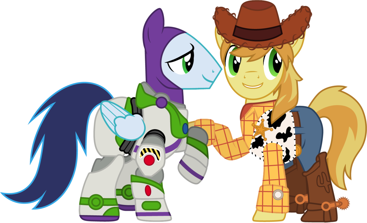 Woody and buzz png. Artist cloudyglow braeburn