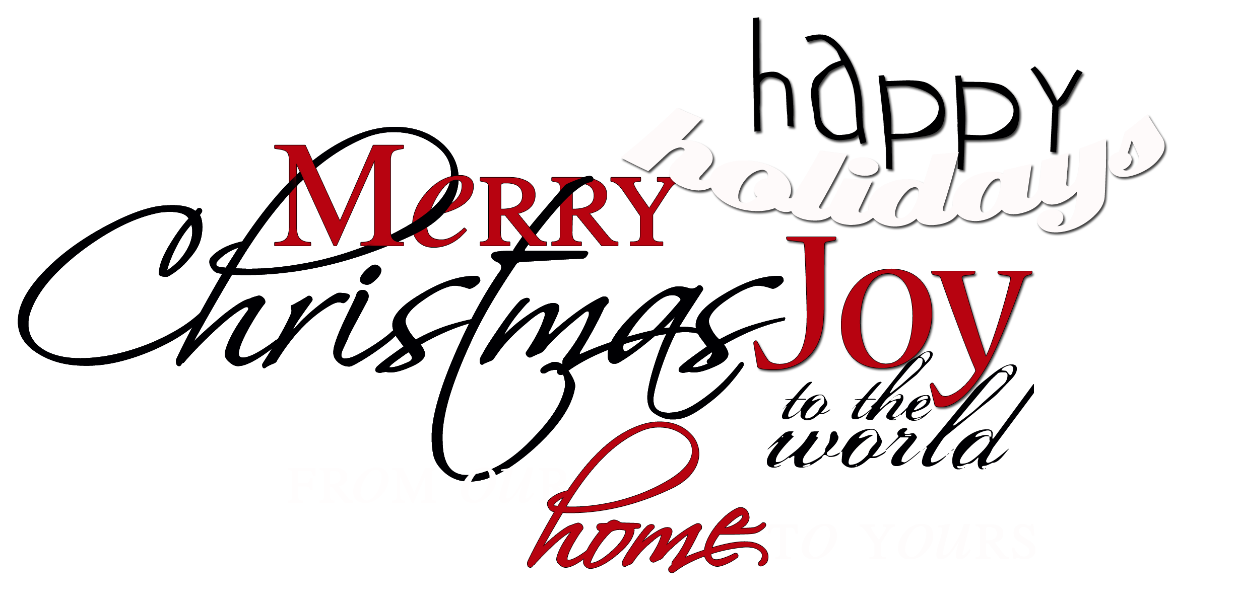 Word art png. For christmas cards your