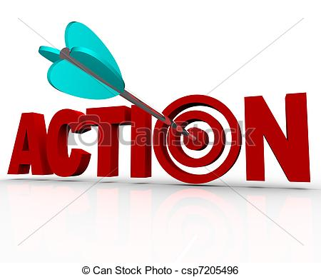 Word clipart action. Target bulls eye urgent jpg freeuse stock