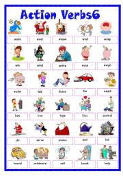 Verbs esl worksheet by. Word clipart action black and white stock