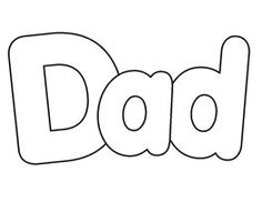 Free cliparts download clip. Word clipart dad black and white stock
