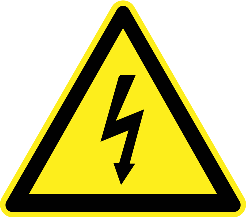 Word clipart electricity. Warning sign hazard symbol