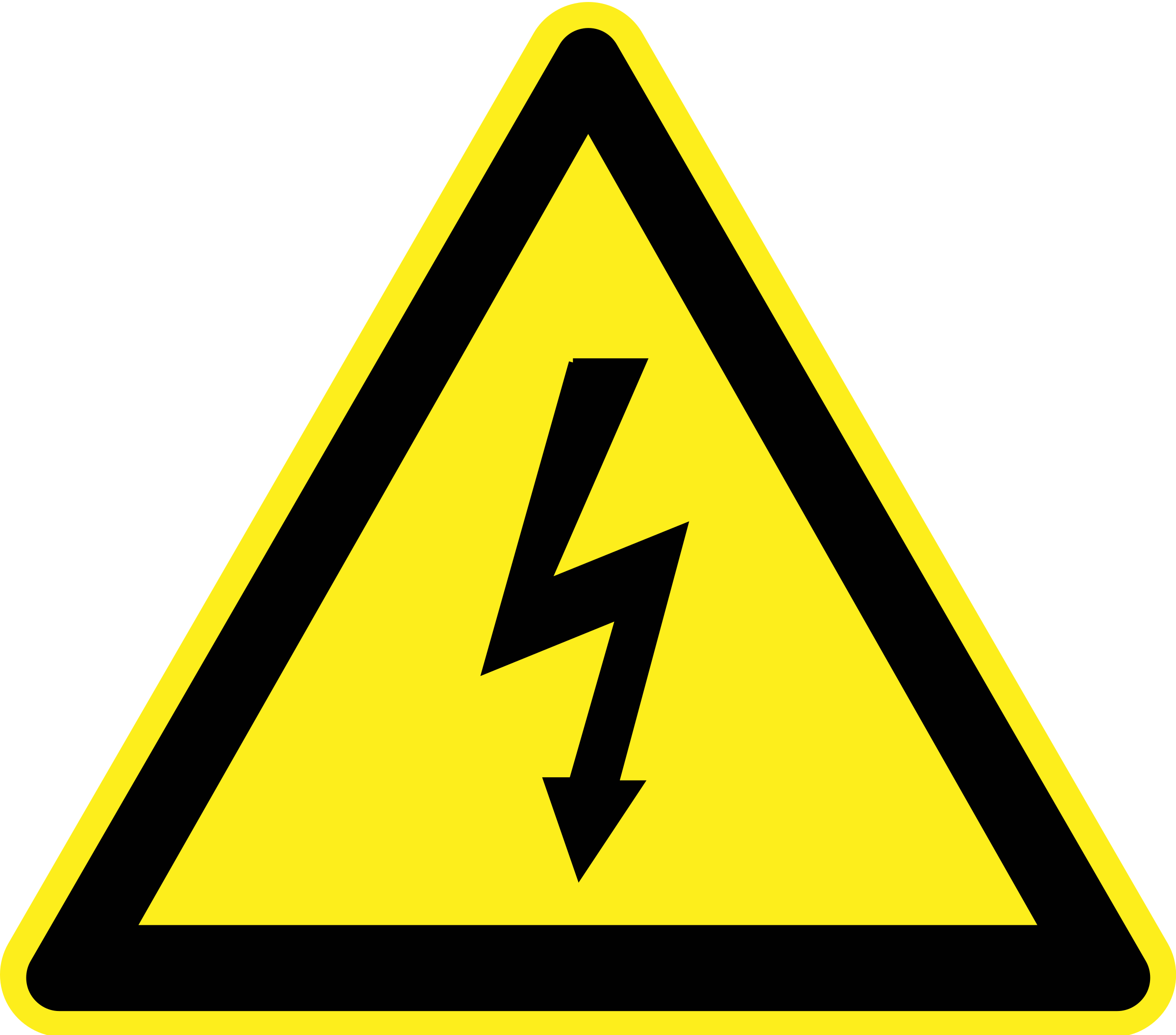 Word clipart electricity. Signs hazard warning big