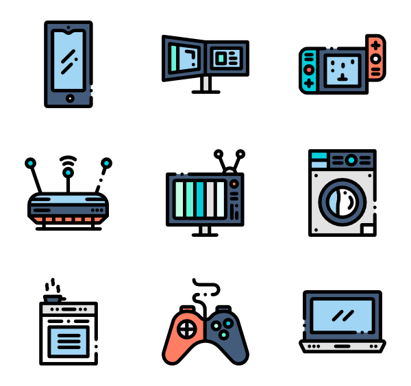 Icons free vector electronics. Word clipart electricity png freeuse