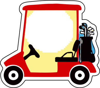 Buggies cart course free. Word clipart golf image free library