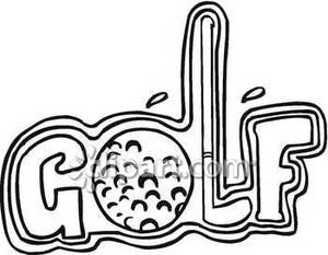 Word clipart golf. The with a ball