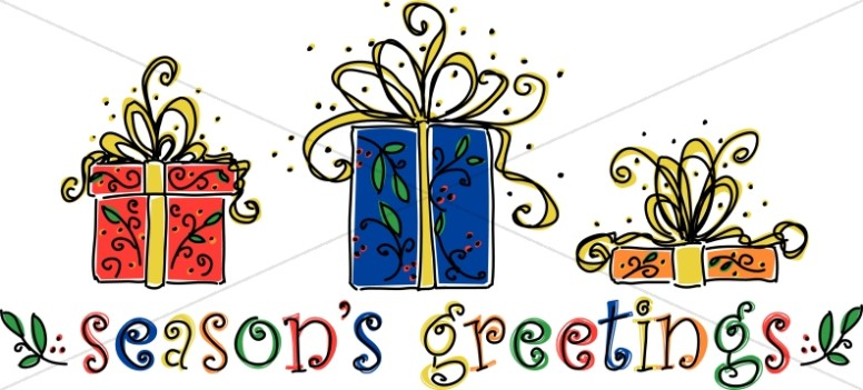 Greetings gifts christian christmas. Word clipart seasons clip art black and white