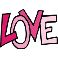 Transparent word love. Download the images png