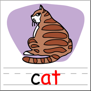 Words clipart cat. Clip art basic at