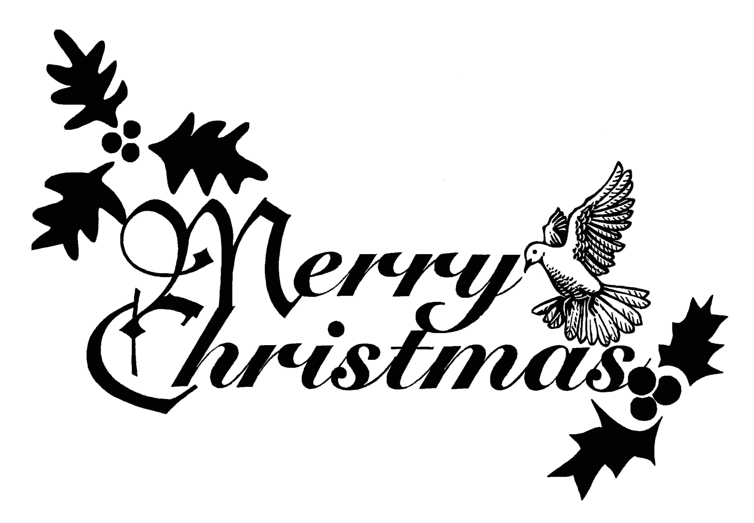 Words drawing clipart. Merry christmas clip art