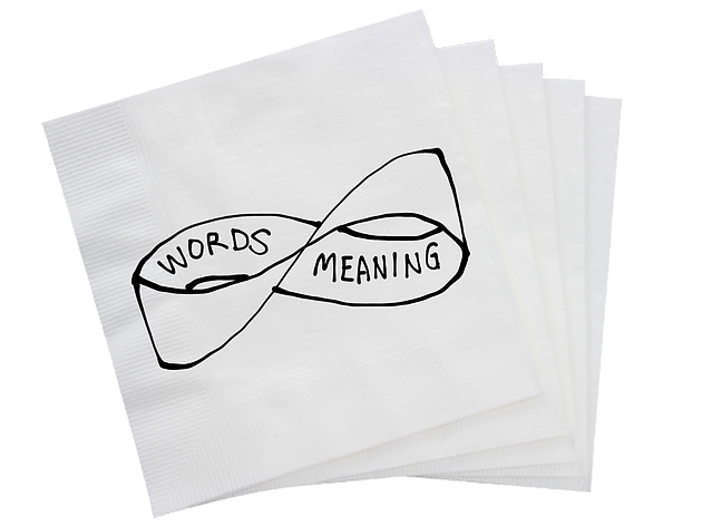 Words drawing paper. And meaning a mobius