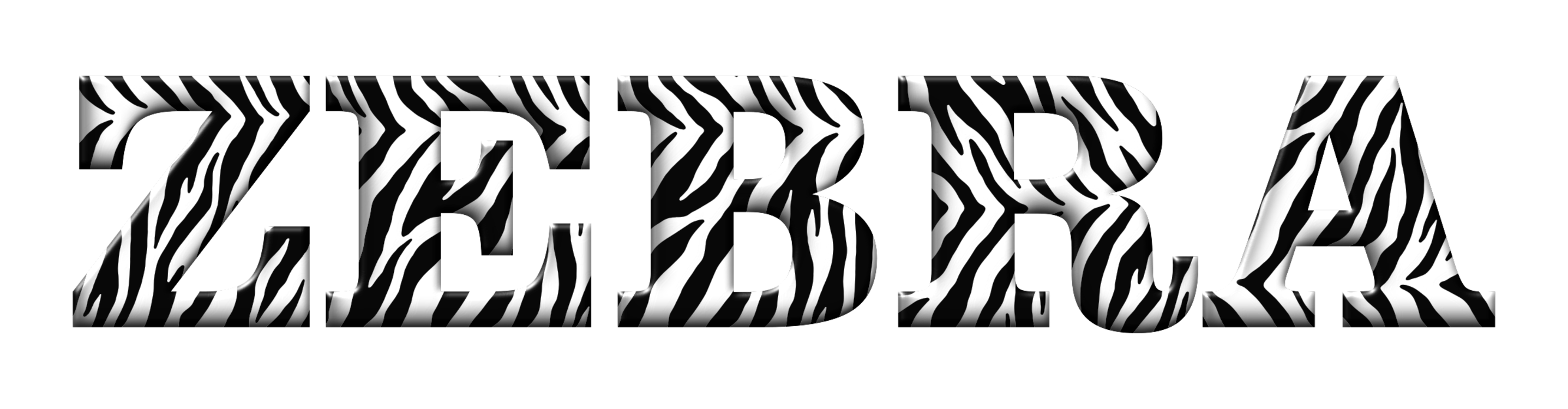Typographic drawing text. Baby zebra computer icons
