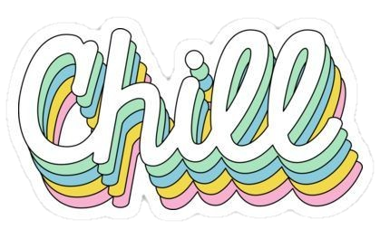 Words transparent chill. Word colorfull colors sticker