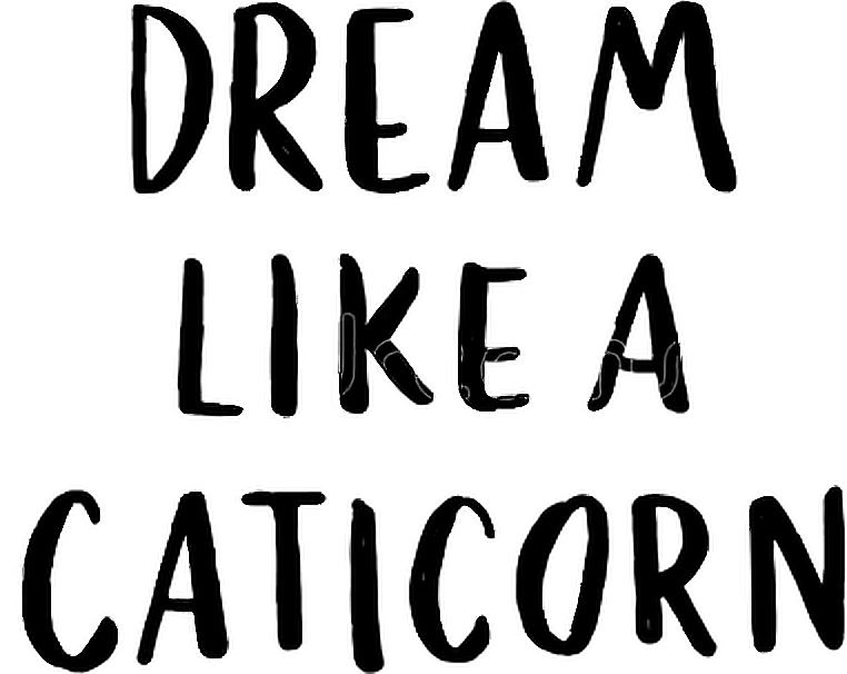 Caticorn quote quotes sayings. Words transparent dream svg stock