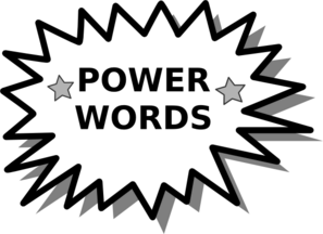 Words have power . Word clipart electricity clipart freeuse stock