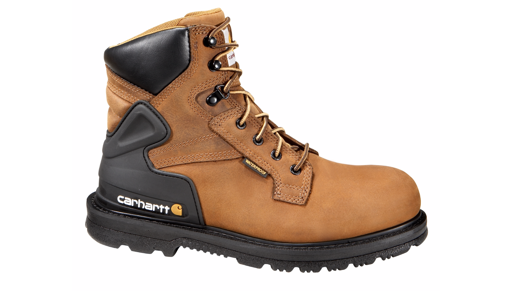 Work boots png. Carhartt bison brown safety