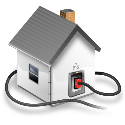 Work from home png. Connected house local network