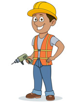 Construction clipart. Free worker