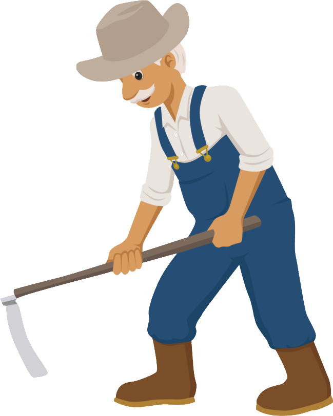 Worker clipart farm worker. Farmer png images free