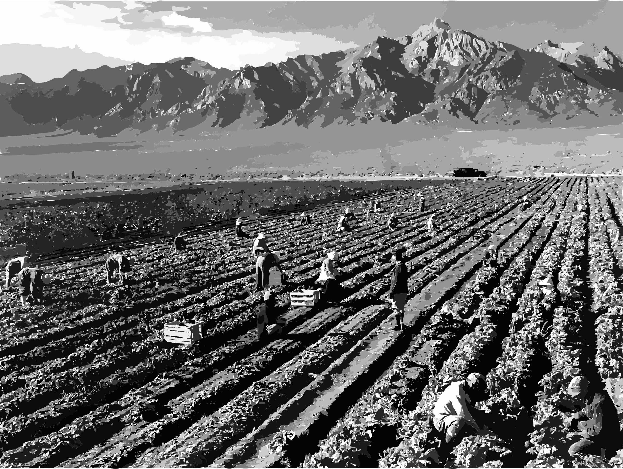 Worker clipart farm worker. Ansel adams workers and