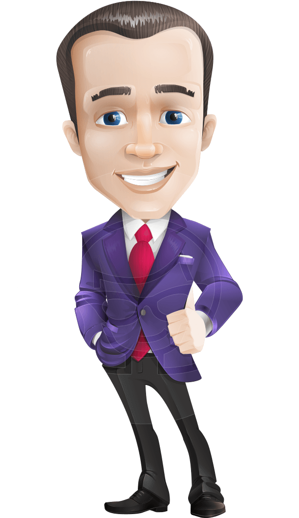 Worker vector character. Jim the business icon