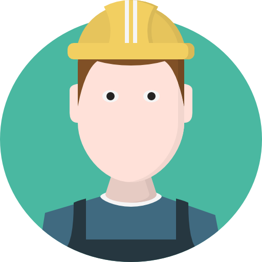 Worker vector human. People man avatar person