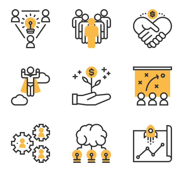Worker vector service. Employee icons free corporate