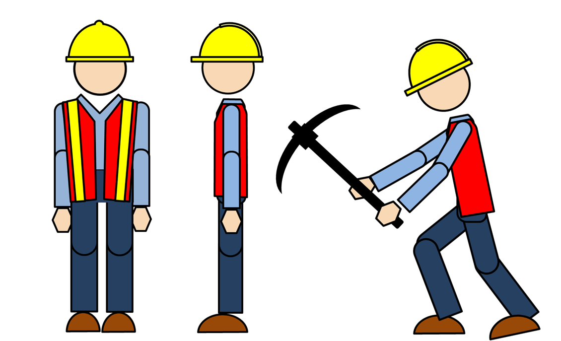 Animated construction worker images. Workers clipart clipart transparent background clipart black and white