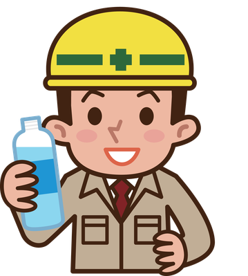 Worker drinking water the. Workers clipart clipart transparent background vector transparent library