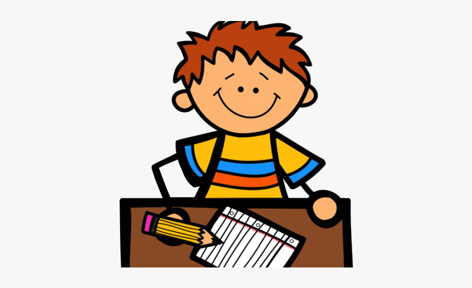 Workin. Student working clipart writing